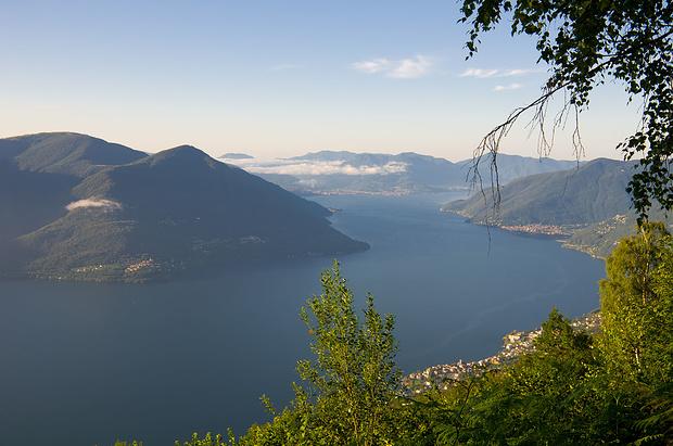 Wir sind bereits 1000 Meter über dem Lago