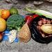 Einer unserer Einkäufe für ein vegetarisches Znacht auf dem täglichen Markt von Riobamba