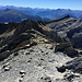 Blick zurück vom Gipfel