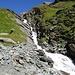 schöner Gebirgsbach beim Aufstieg zur Stüdlhütte