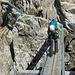 Brücke zur Treppe bei der Konkordiahütte.
