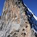 Der Gipfelaufbau ragt senkrecht empor.