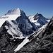 Der Heimweg über die Eigerjöcher und unser morgiges Gipfelziel setzt sich in Szene :-D