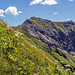 Abstieg vom Älpelekopf, Blick zum Lahnerkopf.
