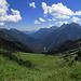 Abstieg zum Sattel über dem Kuhkar / discesa alla sella sopra il Kuhkar