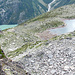 Göscheneralpsee, Bergsee und Bergseehütte, so gesehen vom Klettersteig.