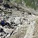 Im weglosen Aufstieg zur Fuorcla dil Lai Blau