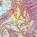Ritzlihorn Westflanke mit den gängigsten Routen (direktere, steilere Linien sind möglich): <br />rot: direkt vom Mattenalpsee, unten Wegspuren durch die Erlen<br />grün: übers Band von der Hängebrücke Gaulisee (Zugang von der Gaulihütte)<br />blau: mutmasslich gut gangbare Route von der Brücke bei P. 1933 und übers Fruttband, mutmasslich von [u lorenzo] bei seiner [http://www.hikr.org/tour/post111731.html Skibegehung] benutzt. <br /><br />Kartengrundlage: swisstopo 1:25'000 mit Hangneigungsklassen