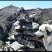 Auf dem Gipfel vom Strel. Blick zum Valbellahorn (höchster Punkt halblinks).