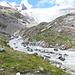 Vista verso il ghiacciaio percorrendo il Gletscherweg Innergschlöss.