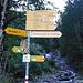 Signpost at Zündli (Elm).