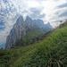 Blick zu den Kreuzbergen im Abstieg zur Saxerlücke (HDR-Aufnahme)