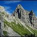 Die Gumpenkarspitze mit der verborgenen Grasschulter