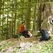 Nach dem ersten, steilen Aufstieg durch den Wald