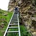 Die Eisentreppe bei der Cima de Nomnom