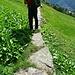 Eindrucksvoller Wanderweg hinunter nach Braggio
