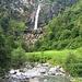 La cascata di Foroglio, con i suoi 110 metri è considerata la più alta del Canton Ticino.