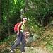 Sul sentiero che sale in Val Calnegia.