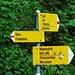 Wegweiser kurz vor P. 1183. Hier gehts nach rechts Richtung Fronalpstock