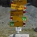 Signpost at Muletg da Sterls.