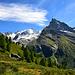 Zinalrothorn et Besso vus de la montée à Arpitettaz