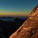 Sunrise in der Ostwand - Blick nach Italien