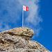 Walliser Flagge bei der Wisshorelücke auf unserem Reko-Ausflug. Endlich wieder im Heimatkanton :-)