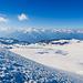 Nochmals ein Blick zu den 4000ern über den Glacier de la Plaine du Morte hinweg