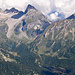 Tiefblick auf [tour22064 meiner Tour von 2009 über die Passo di Valtendra].