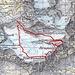 Routenverlauf ab Hütte<br /><br />Quelle: SchweizMobil