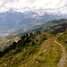 Der Gsponer Panoramaweg bietet tatsächlich Panorama.