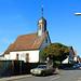 Kleine evangelische Kirche in Langwaden