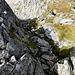 Il canaletto percorso da Paolo Dalla foto non sembra così infido, ma visto da sopra vi assicuro che lo è ...