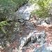 la scaletta in sasso al termine della valletta