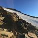 Das steile Firnfeld, bestens geeignet für den Abstieg
