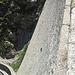 Salz lecken an der Staumauer des Lago Cingino