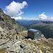 Das erste Biwak (Bivacco Antigine) 2.837 m, bereits in Italien