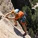 Die Tour bietet tatsächlich vom ersten bis zum letzten Meter außergewöhnlich schöne Kletterei!