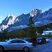 Morgens an der Talstation der Dachsteinseilbahn.