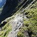 Abstieg Richtung Schilthornhütte, am Anfang mit Geländern gesichert