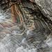 Bellissima roccia a striature colorate