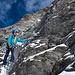 Am Gipfelaufbau des [peak5640 Täschhorn]s