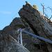 ...der Klettersteig führt auf jeden möglichen Zacken.