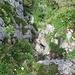 Am Bleikigrat: Leichte Kraxelstelle von oben