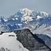 Aussicht vom Inners Barrhorn: Mont Blanc.