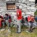 Breve sosta all' Alpe d'Efra al ritorno