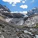 Rückblick in die wilde Landschaft unterhalb des Gletschers