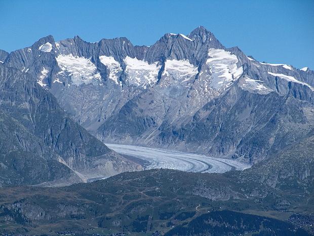 Gross Wannenhorn, Aletschgletscher