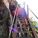 eine weitere Leiter - der Abstieg zur Brücke ist lang