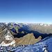 Gipfel: Blick Richtung Westen zum Zuckerhütl